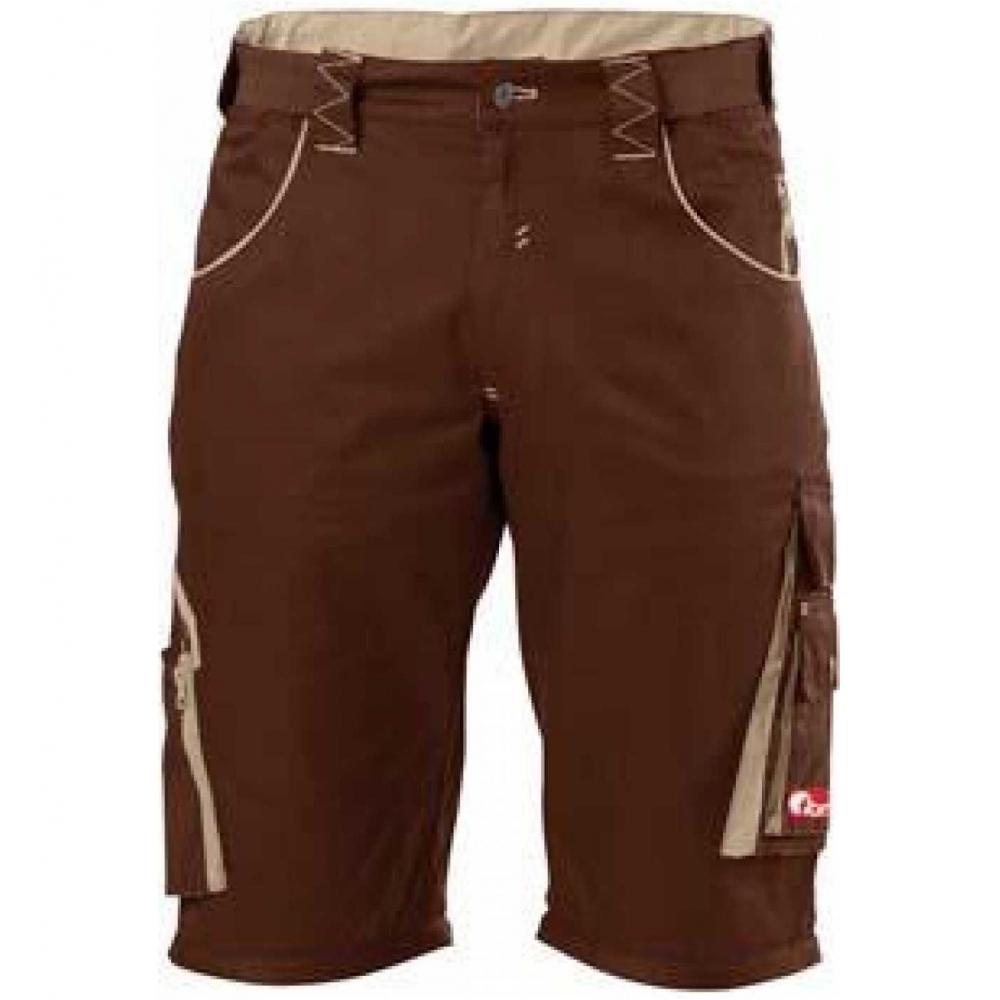 fortis herren bermuda arbeitshose latzhose shorts bundhose braun ebay. Black Bedroom Furniture Sets. Home Design Ideas