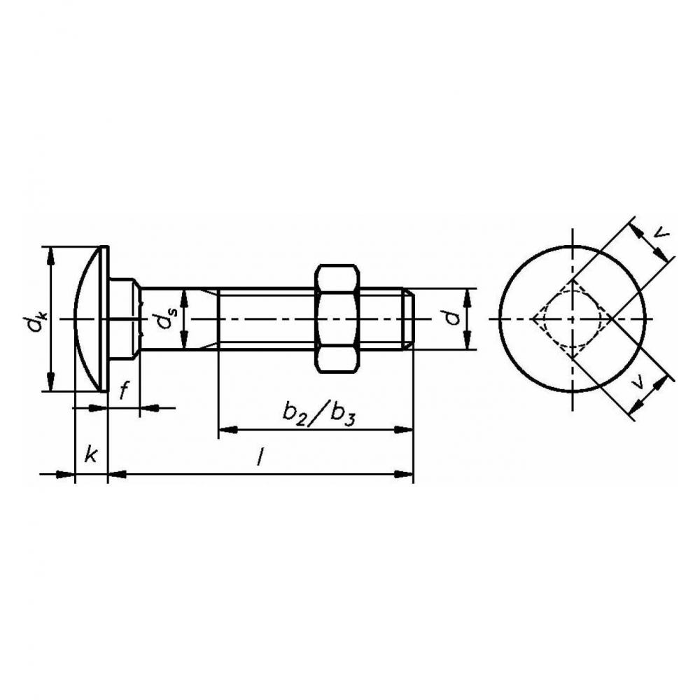 Schlo/ßschraube DIN 603 Mu 4.6 Stahl galvanisch verzinkt M 12 x 240-25 St/ück