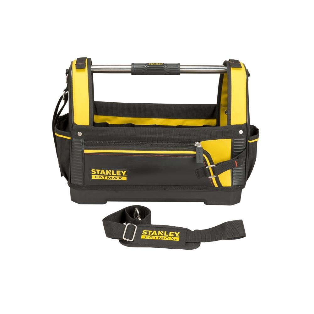 stanley werkzeugtasche fatmax offene werkzeugtrage werkzeugkoffer tool bag ebay. Black Bedroom Furniture Sets. Home Design Ideas