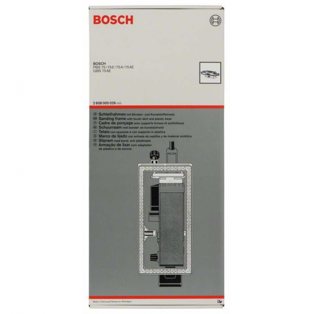 bosch 2608005026 schleifrahmen pbs 75 gbs 75 a ae ebay. Black Bedroom Furniture Sets. Home Design Ideas