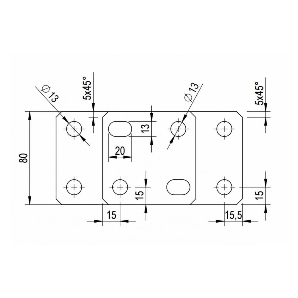 6er Set St/ützenfu/ß Pfostentr/äger verstellbar mit Platte und verdecktem Anschluss