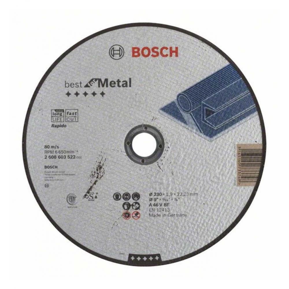 bosch trennscheibe gerade best for metal rapido a 46 v bf 230mm 22 23mm 1 9mm ebay. Black Bedroom Furniture Sets. Home Design Ideas
