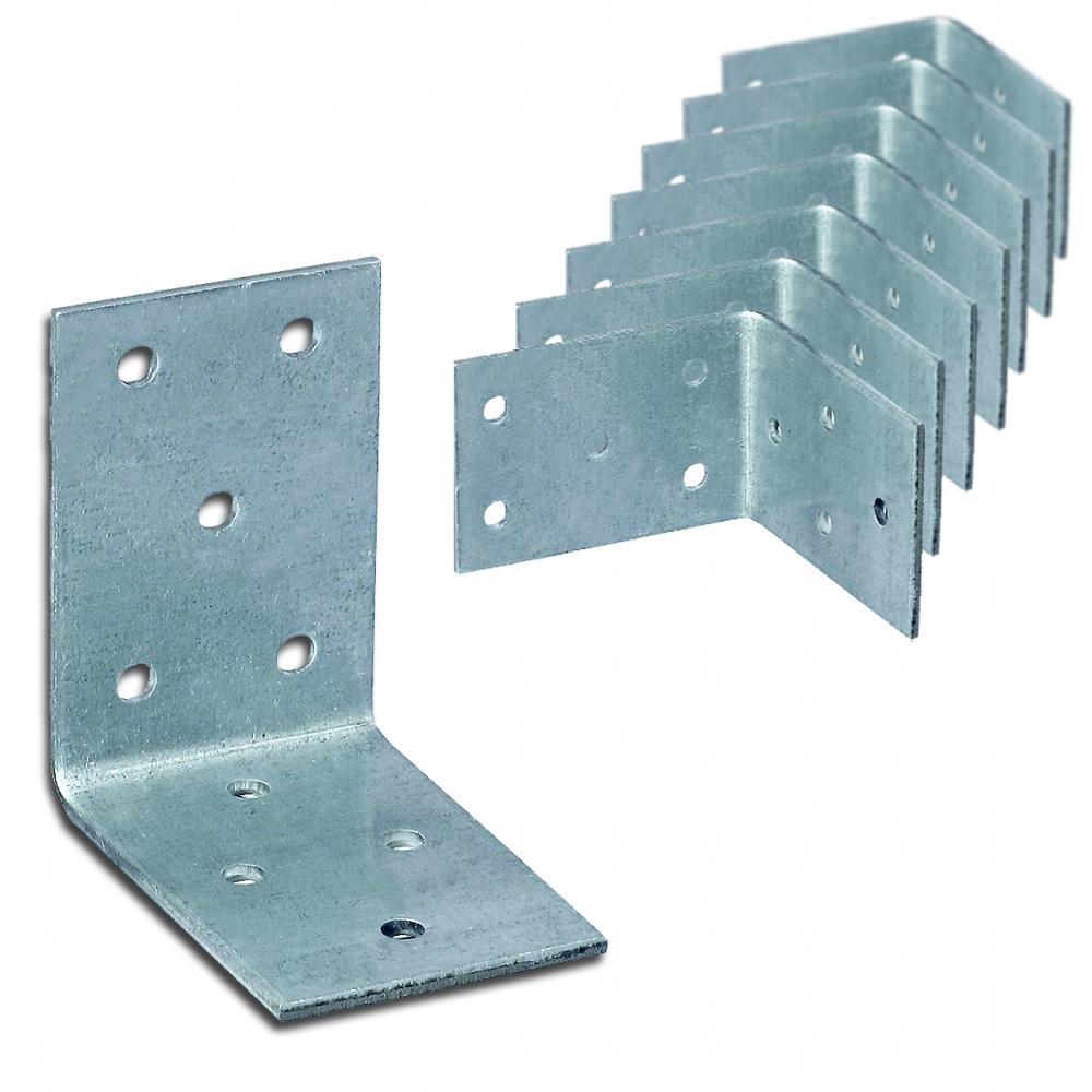 Winkelverbinder verzinkt Holz Bauwinkel Lochplattenwinkel Holzverbinder mit Steg